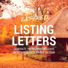 The perfect expired listing letter sample templates to send out! I break down the exact top producer followup system that will get you results now.