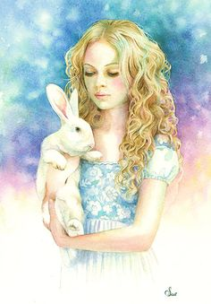 Alice and the Rabbit Limited Edition Print 3/40 by ScotHowdenArt