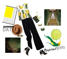 """""""Be a pineapple."""" by loufermil ❤ liked on Polyvore featuring The Row, Paul Andrew, Évocateur, Lili Palouli, GALA, Elizabeth Arden, Gucci and Seoul Little"""