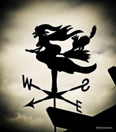 any way the wind blows (witch iron weathervane)