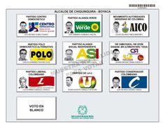 Tarjetón de elección para Alcalde de Chiquinquirá