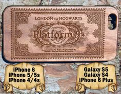 Platform Ticket, iPhone 6/6+ 5/5s 4/4s, Samsung S4 S5, Laser Engraved Genuine Wood Case, Harry Potter by TheLasersEdge on Etsy https://www.etsy.com/listing/223548416/platform-ticket-iphone-66-55s-44s