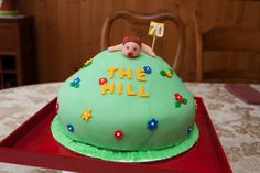 Over the Hill - 70 Birthday Cake-Vanilla cake with vanilla buttercream filling and fondant decorations. Thanks for looking at my pictures!