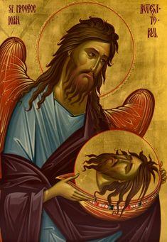 Byzantine Icons, John The Baptist, Orthodox Icons, Saints, Princess Zelda, Movie Posters, Fictional Characters, Beautiful, Greek