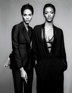 ...Joan Smalls & Jourdan Dunn by Patrick Demarchelier for W, February 2014. Stunning Senoritas....x