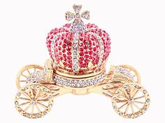 Cinderella Crown Carriage Trinket Box All Red Swarovski Crystallized Over Pewter Crown is Detachable from Carriage Gold Plating Perfect For Your Wedding Ring 350 X 300 X 175 -- This is an Amazon Affiliate link. Click image to review more details.