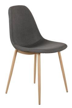 Lot De Chaises Scandinaves Gao Tissu Gris Embellir Le Salon Et - Fauteuil ergonomique salon