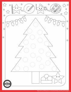Holiday Tree Prewriting Activity Freebie