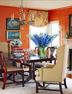 Orange Dining Room on Pinterest | Orange Walls, Dining Rooms and ...