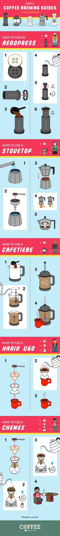 Brewing coffee might sound like an expensive chore, but it's actually much simpler than you might think. This infographic by Coffee. Coffee Brewing Methods, Home Brewing Beer, Brewing Recipes, Beer Recipes, Homebrew Recipes, Wine Mixed Drinks, Coffee Chart, Brew Your Own, Coffee Benefits