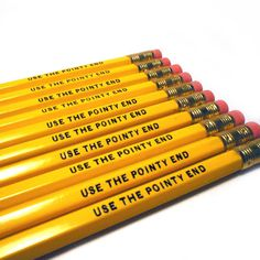 Use The Pointy End Pencils Set of 2 Game of Thrones Quote in Yellow on Etsy, $3.00