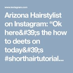 "Arizona Hairstylist on Instagram: ""Ok here's the how to deets on today's #shorthairtutorialmonday  Started by doing two braids side by side. Normal braids (not French =super…"""