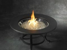 Walmart: The Outdoor GreatRoom Company Tri-Pod Crystal Fire Pit with Cocoa Ring Table Top and Burner Cover Fire Pit Glass Beads, Fire Glass, Fire Pit Table Top, Fireplace Stores, Round Fire Pit, Burner Covers, Real Fire, Fire Bowls, Outdoor Living