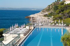 Grand Hotel Du Cap Ferrat, St-Jean-Cap-Ferrat.  Rooms include a walk-in closet and the most comfortable mattress (seriously).  Water views are spectacular