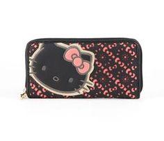 Hello Kitty Long Wallet: Coral Eyelet