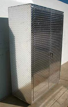 6 Foot Diamond Plate Deep Storage Cabinet Car Guy Garage Cabinets