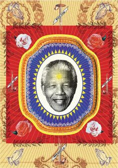 Poster design by Garth Walker Art South Africa pays tribute to Nelson Mandela with a showcase of artworks featuring South Africa's icon Nelson Mandela, South African Art, Wall Art Wallpaper, Creators Project, Walker Art, Unique Poster, African Design, Illustrations, Graphic Art