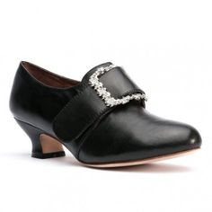 Kensington 18th Century Leather Shoes in black, $140. The ivory version is dyeable.