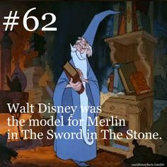 Cool Disney Facts......disney=merlin, merlin=dumbledore, dumbledore=disney i knew there was reason i liked it so much!