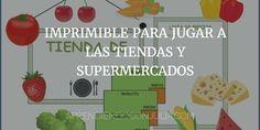 Imprimible para niños: Jugar a las tiendas y supermercados Juego simbólico Actividades infantiles para imprimir