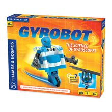 Gyroscopes are used in countless devices, including smartphones, airplanes and space telescopes. With this kit, children can explore the astonishing powers of the gyroscope by building seven motorized models, including a robot that can balance on two linear wheels and move along a tightrope! Kids will learn about the physical science principles that keep the robot balanced, making it appear to defy gravity. Includes 102 pieces plus a full-color, 24-page, illustrated experiment manual. Uses…