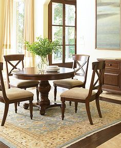 """Madison Park dining table, 48""""; Macy's; on sale $699."""