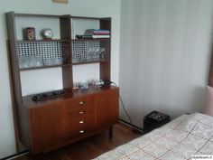 50-luku,kirjahylly,makuuhuone