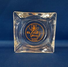 Vintage El Cortez Hotel Glass Ashtray - Las Vegas, Nevada
