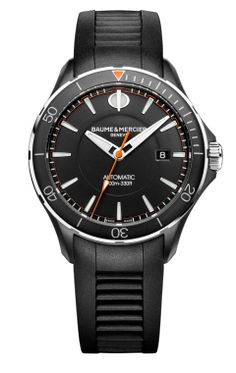 Discover the Clifton Club 10339 automatic 100m watch for men with stainless steel bracelet designed by Baume and Mercier, manufacturer  of Swiss watches.