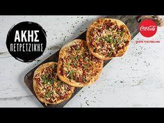 Λαχματζούν από τον Άκη Πετρετζίκη. Φτιάξτε την ανατολίτικη συνταγή για την πικάντικη πίτσα της ανατολής, λαχματζούν, με χειροποίητες πίτες και ζουμερό κιμά! Greek Recipes, Brunch, Food And Drink, Make It Yourself, Vegetables, Cooking, Lab, Kitchen, Cucina