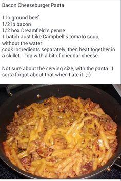Cheesburger pasta