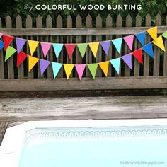 That's My Letter: Colorful Wood Bunting