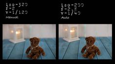 Fotos automático y manual cámaras réflex.