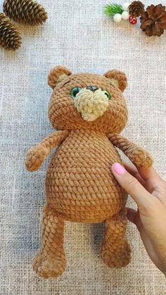 Amigurumi Animals Most Beautiful Things Crochet Pattern Free, Crochet Teddy Bear Pattern, Crochet Bear, Crochet Animals, Crochet Dolls, Pretty Dolls, Cute Dolls, Halloween Crochet, Bears