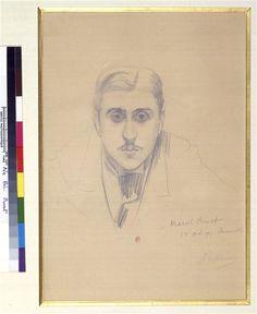 Proust on 1October 1891. Drawing prior to the portrait.   Blanche Jacques Emile (1861-1942)Réunion des Musées Nationaux-Grand Palais -