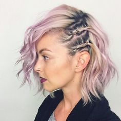 Grunge for the win. If anyone who's asked wants to see how dark my roots are, here they are  missin my subtle pink. This violet ain't budging  . . . . . . #americansalonselfie #selfie #hairstylist #hairoftheday #shorthair #girlswithshorthair #pinkhair #licensedtocreate #modernsalon #behindthechair #lob #shermanoaks #studiocity #grungegirl #shorthairstyles #braids #hairstyles