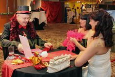 CRYSTAL BALL READER FOR PARTIES & EVENTS - MOULIN ROUGE THEMED -LONDON