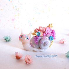 Succulent snail. One of a kind by FlowerLandbySaraM, $43.00 USD