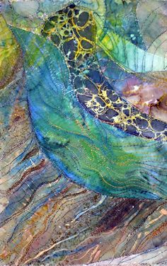 small fiber art - 4 via Etsy