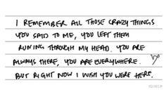I wish u were here- Avril Lavigne