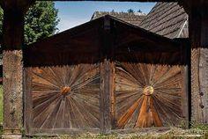 #Carved #gates in Maramures, North Romania.