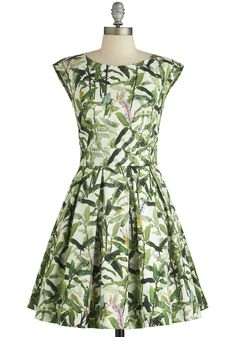 Fluttering Romance Dress in Palms, #ModCloth