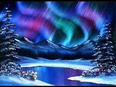 """Is it possible to do """"brush strokes"""" like in this Northern lights-style piece?  I also LOVE these colors."""