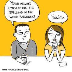We just love your sassitude. Funny cartoons from Shoebox National Grammar Day, Police Memes, Funny Police, Classroom Humor, Balloon Words, Grammatically Correct, Grammar Lessons, Grammar Tips, Grammar Humor