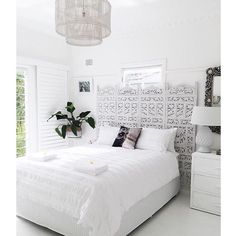 beachy boho bedroom, white