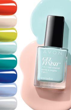 This #ManiMonday, we're introducing 8 trendy new Gel Finish 7-in-1 Nail Enamel shades, perfect for the warm weather! | Cette #LundiManucure, nous présentons les huit nouvelles teintes tendances du vernis à ongles 7-en-1 Gel Finish, parfaites pour les beaux jours d'été! #AvonCanada