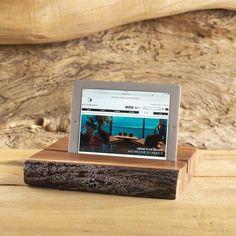 Freeform iPad Stand With Bark