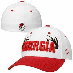 Zephyr Georgia Bulldogs Rack Flex Hat - White/Red