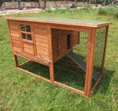 Amazon.com: Pawhut Deluxe Backyard Chicken Coop / Hen House / Rabbit Hutch w/ Run: Pet Supplies