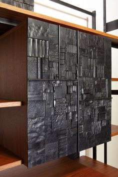 Shou Sugi Ban at it's finest. Art Furniture, Furniture Design, Charred Wood, Wall Sculptures, Blacksmithing, Wood Wall Art, Metal Working, Wood Projects, Woodworking